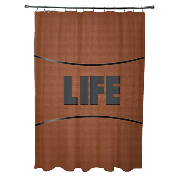 Life Word Print Shower Curtain
