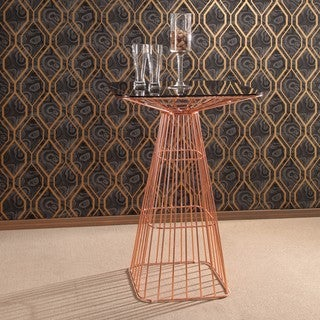 Abbyson Devon Rose Gold Iron Bar Table