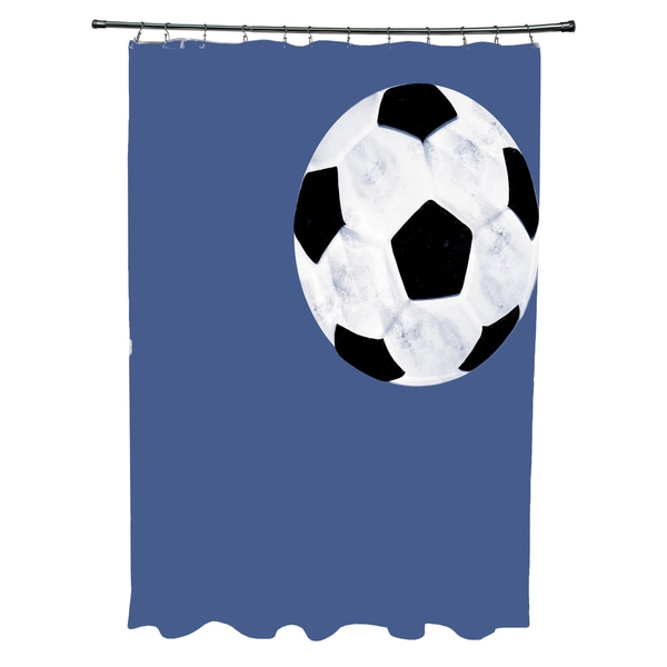 Soccer Ball Geometric Print Shower Curtain