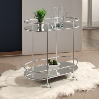 Abbyson Piper Silver Bar Cart