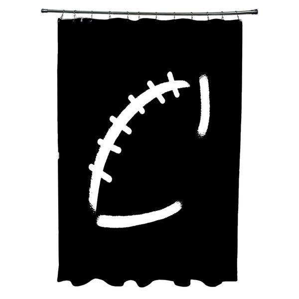 Football Geometric Print Shower Curtain
