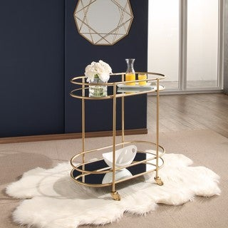 Abbyson Piper Goldtone Bar Cart