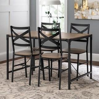 Carbon Loft Edelman 5-piece Angle Iron Dining Set