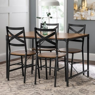 Carbon Loft Edelman 5-piece Barnwood Finish Angle Iron Dining Set