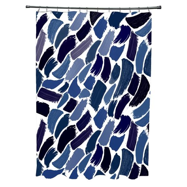 Wenstry Geometric Print Shower Curtain