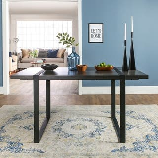 60 Inch Urban Blend Charcoal Wood Dining Table
