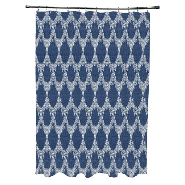 Peace 2 Geometric Print Shower Curtain