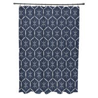 Tuinched Geometric Print Shower Curtain