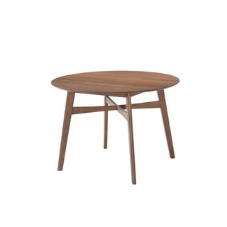 """Emerald Home Simplicity Walnut 42"""" Round Dining Table"""