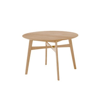 """Emerald Home Simplicity Natural 42"""" Round Dining Table"""