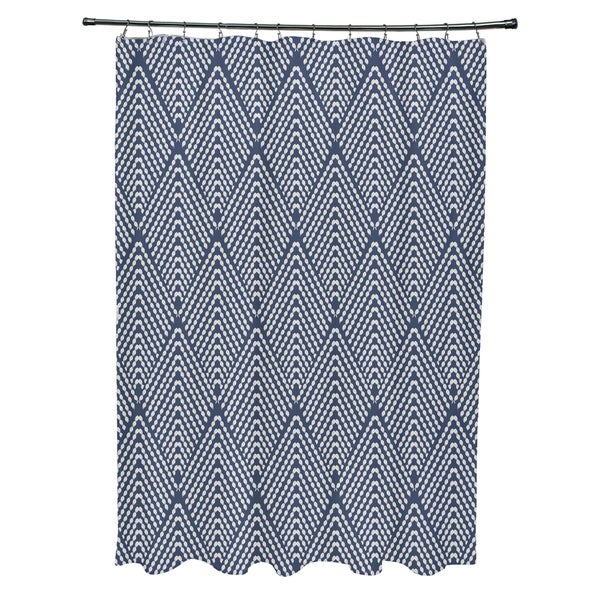 Lifeflor Geometric Print Shower Curtain