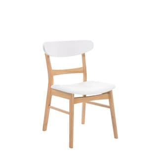 Emerald Home Simplicity Natural Wood Back w/Uph Seat Dining Chair -2 pack
