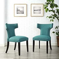 Modway Fabric Curve Dining Chair (Set of 2)