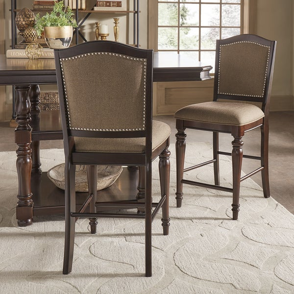 Shop LaSalle Espresso Nail Head Accent Counter Chairs By