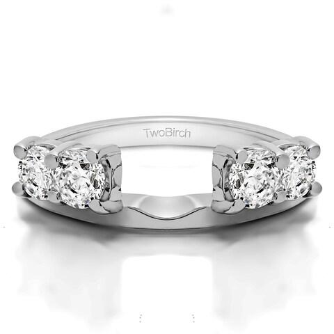 10k White Gold Traditional Style Ring Wrap Enhancer With Diamonds (G-H,I2-I3) (0.2 Cts., G-H, I2-I3)