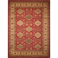 Rug Squared Ramsey Red  Area Rug (3'9x5'9) - 4' x 6'