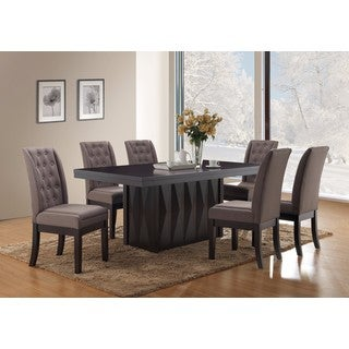 Grey Fabric Dining Chairs (Set of 2)