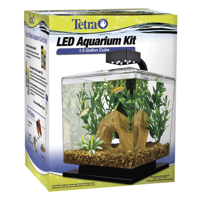 Tetra 1.5 Gallon Aquarium Kit (Aquarium Kit 1.5 Gal), Clear