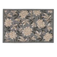 FLORAL SPRING ACCENT RUG GRAY - 30 x 46