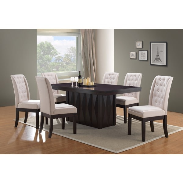 Shop K And B Furniture Bone Fabric Wood Kitchen Dinette Dining