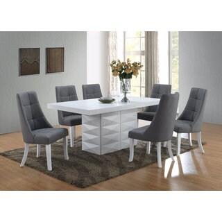 Grey Vinyl Kitchen Dinette Dining Chairs (Set Of 2)