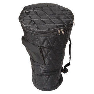 X8 Drums Ivory Coast Black Quilted Nylon Djembe Bag with Backpack Straps