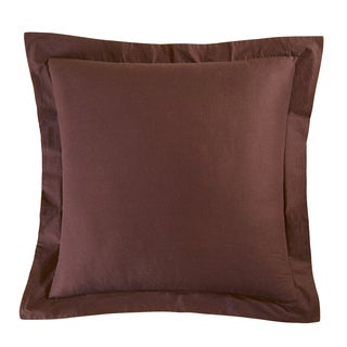Brown Cotton Euro Sham