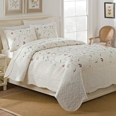 Maison Rouge Merrill Embroidered Quilt Set