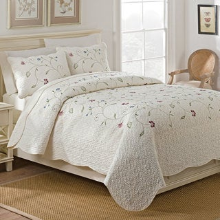 The Gray Barn Morning Glory Embroidered Quilt Set