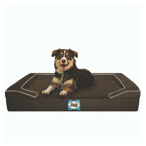 Sealy Lux Sherpa Quad-layered Dog Bed