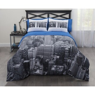 CASA Photoreal New York City Bed In a Bag Comforter Set