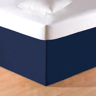Solid Blue Bed Skirt