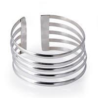 Handmade Sterling Silver Bracelet 5-Line Design (Nepal)