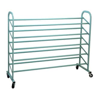 Oceanstar Turquoise Metal 5-tier Shoe Rack