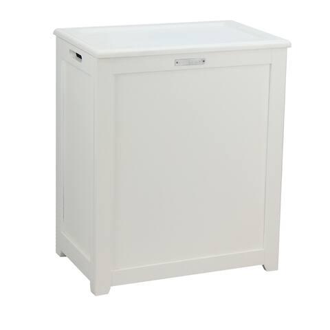 Oceanstar Storage Laundry Hamper, White