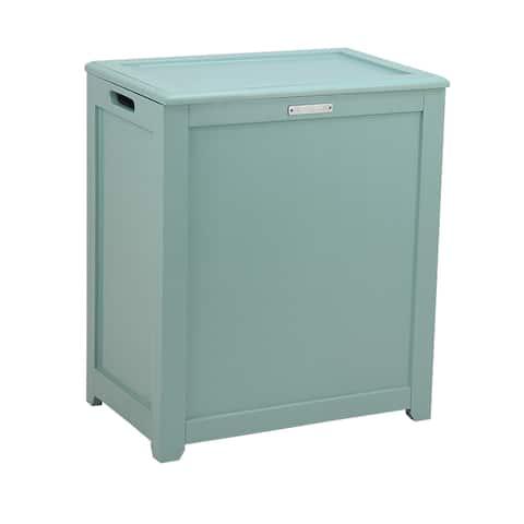 Oceanstar Storage Laundry Hamper, Turquoise
