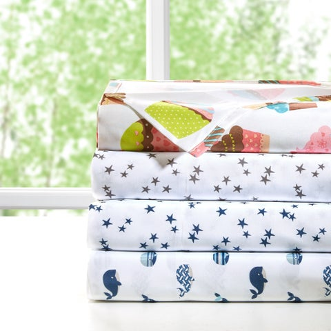 Mi Zone Printed Microfiber Sheet Set