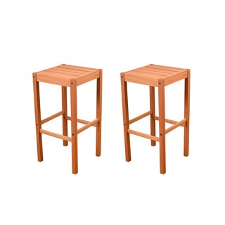 Amazonia Magic 2 Piece Patio Backless Barstool Set
