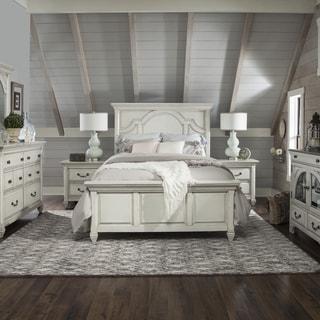 Hancock Park Complete Full Panel Bed in Vintage White