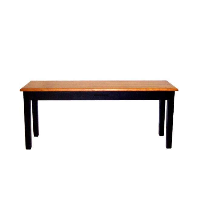 Depend Shaker Wood Dining Bench (Walnut), Black