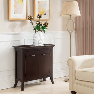 KD Furnishings Cherry Wood Traditional Tray Foyer Cabinet