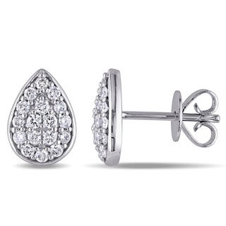 Miadora 14k White Gold 1/3ct TDW Diamond Stud Earrings (G-H, SI1-SI2)