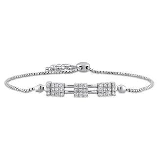 Miadora Signature Collection 14k White Gold 3/5ct TDW Diamond Bolo Bracelet (G-H, SI1-SI2)|https://ak1.ostkcdn.com/images/products/15033344/P21528652.jpg?impolicy=medium