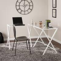 Harper Blvd Alston Metal/Glass L-Shape Corner Desk - White