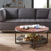INK+IVY Sheridan Chestnut/ Pewter Round Coffee Table