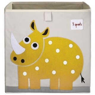 3 Sprouts Yellow Rhino Storage Box