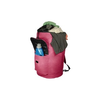 Pink Finish Extra-large Laundry Knapsack Bag