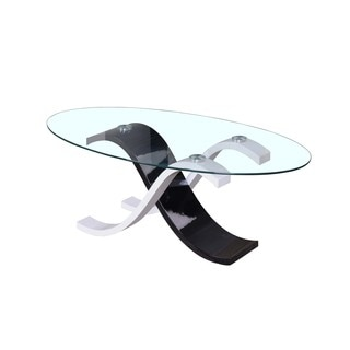 Best Master Furniture CT1 Oval Glass Coffee Table
