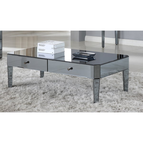 Best Master Furniture D1120 Mirrored Coffee Table. Opens flyout.