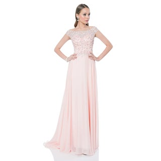 Terani Couture Pink Elegant Beaded Special Occasion Gown